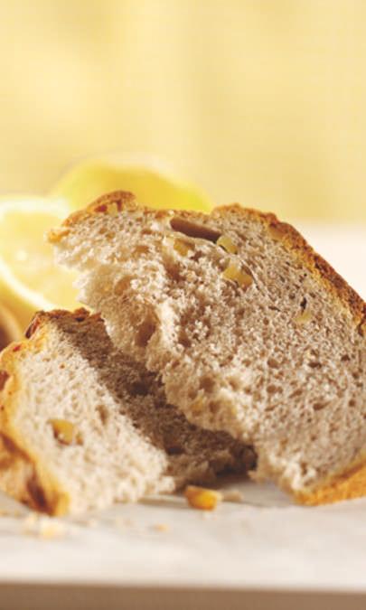 Pane agli agrumi e alle noci