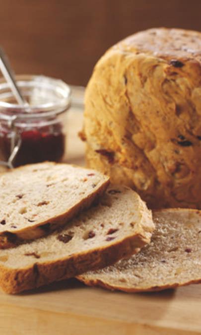 Pane di crusca alla frutta e noci