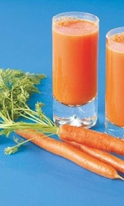 Succo di albicocca e carote