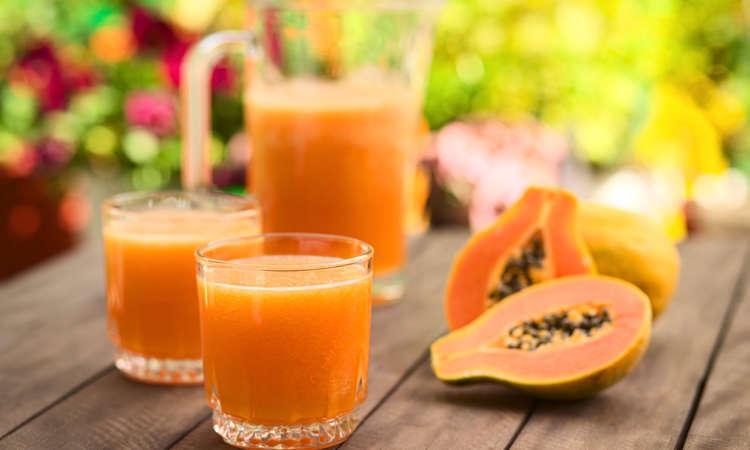 Succo di zenzero e papaia