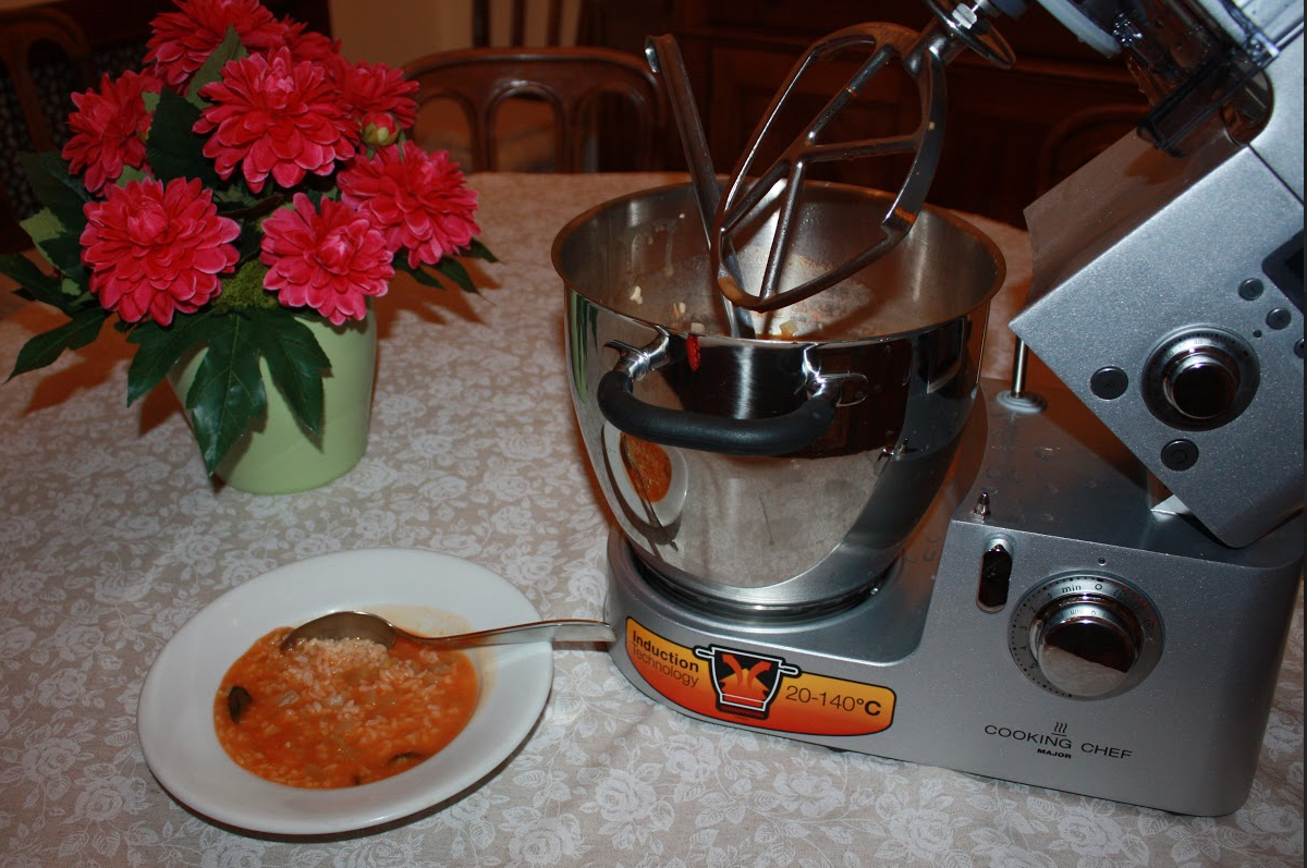 Big cottura riso sedano pomodoro