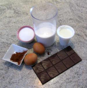 Big ingredienti gelato cioccolato e peperoncino